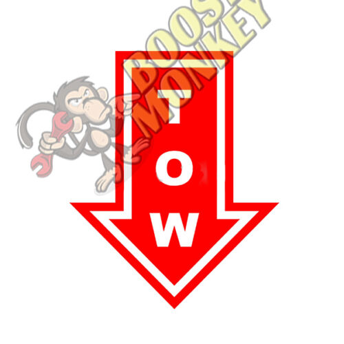 Tow Hook Arrow Vinyl Decal Sticker JDM race drift track cars scca nasa formula d