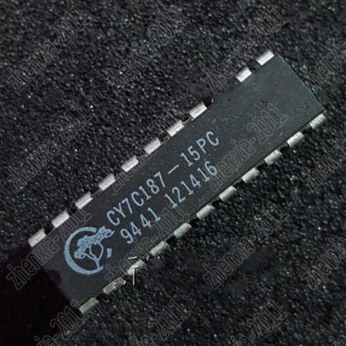 5pcs  used  CY7C187-15PC