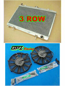 3ROW-Aluminum-Alloy-Radiator-amp-fan-For-Nissan-Silvia-S14-S15-SR20DET-240SX-200SX