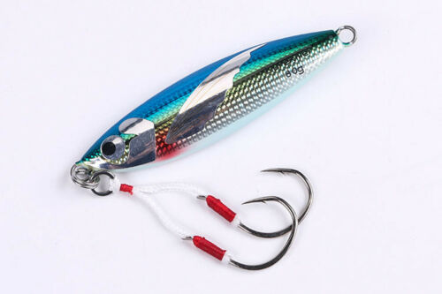 4PCS Deep sea Fishing Glow Zebra Stripe Jigging Slow Jig Lure spoon bait 40-100g