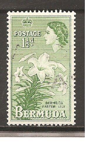Bermuda Stamps- Scott # 145/A27-1 1/2d-Canc/LH-1953-58-NG