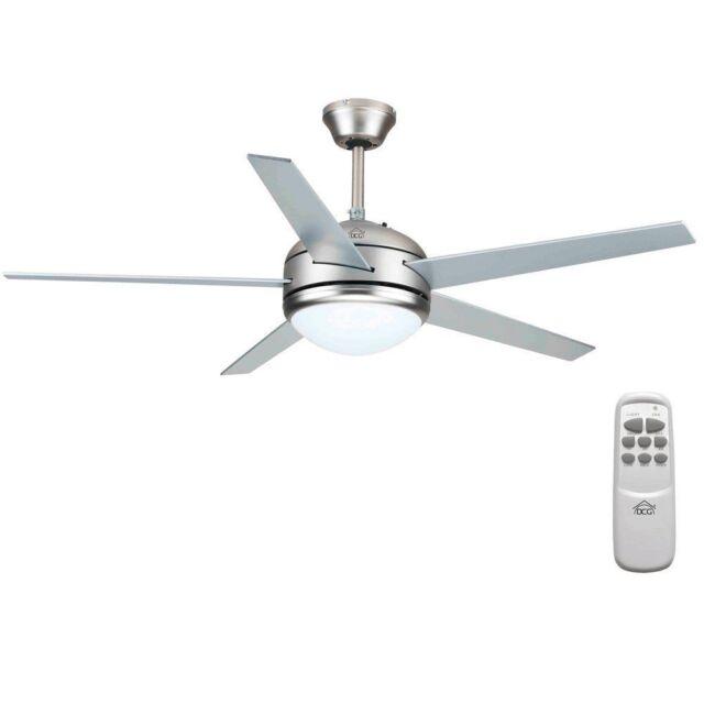 Dcg Vecrd70tl Ventilatore Da Soffitto 130 Cm Diametro 5 Pale Da 55 Cm Luce Bianco