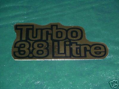 78-81 BUICK TURBO 3.8 LITRE AIR CLEANER DECAL 1978 1979 1980 1981 CENTURY REGAL