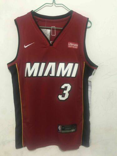Dwyane Wade 3 Retro Trikot Miami Heat Basketball Jersey Stitched Throwback Shirt