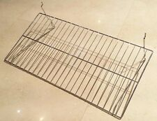 Lot Of 5 Chrome Retail Flat Display Wire Shelf For Slatwallgrid 24w X 12d