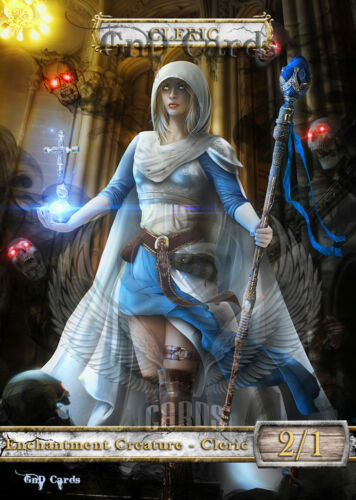 3x Enchantment Cleric #2 Custom Altered Tokens MTG (for Heliod)