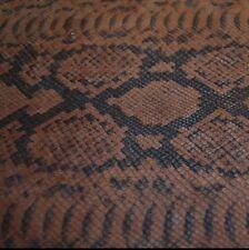 150 sf. 3oz.Brown Pig Split Suede Python Print Leather Hide Skin N25