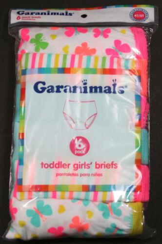 BUTTERFLIES 4T//5T GARANIMALS TODDLER GIRLS/' 6-PACK BRIEFS ASSORTED COLORS