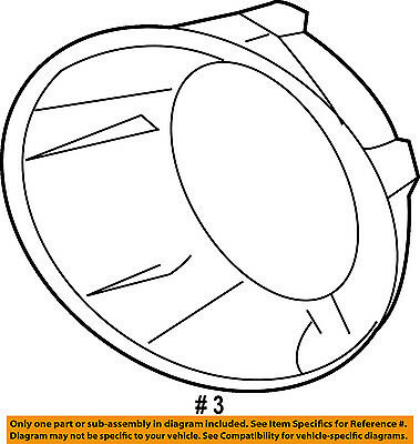 Gm Chevy Camaro Fog Light Trim Lamp Driver Left Side 92218023