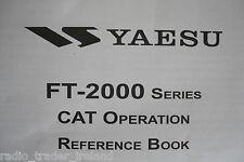YAESU FT-2000 SERIES (GENUINE REFERNCE BOOK ONLY).........RADIO_TRADER_IRELAND.