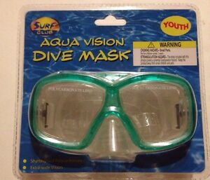 f7e80d8ec696 NEW Sealed Surf Club Youth SWIM MASK GOGGLES Ages 3+. Green And ...