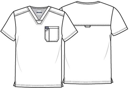 Black Cherokee Scrubs Workwear Revolution Mens V Neck Top WW690 BLK
