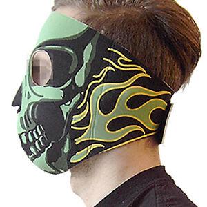 Neoprenmaske-fullface-Skull-Totenkopf-gruen-Bike-Motor-Paintball-outdoor-Schutz