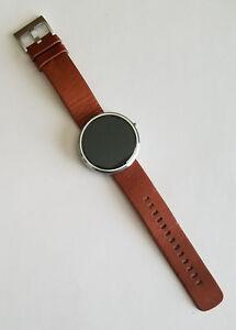 Motorola-Moto-360-46mm-Metal-Case-Cognac-Leather-Buckle-Smartwatch-00565NARTL2