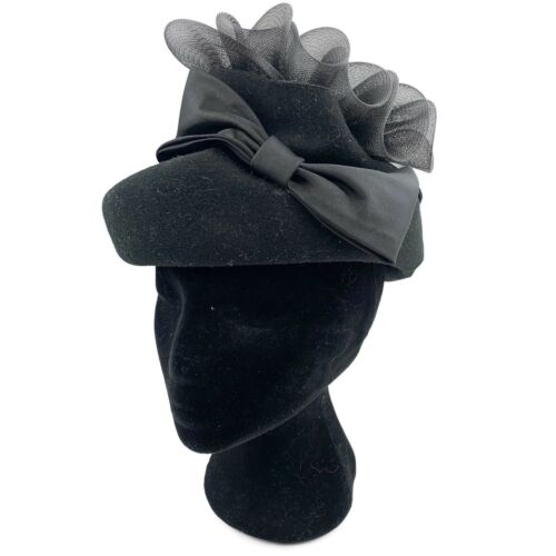 Vtg Bollman Designed By Sylvia Black Wool Structra