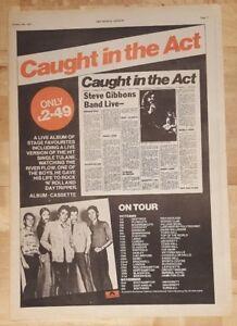 Steve-Gibbons-Band-Live-Tour-1977-presseanzeige-komplette-Page-28-x-38-cm-Poster
