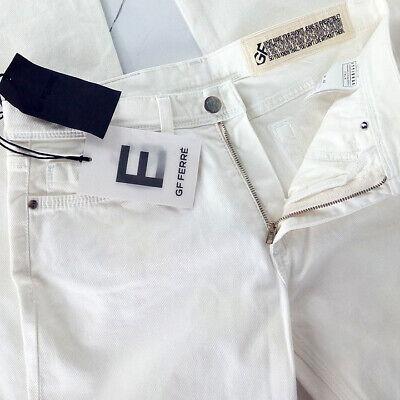 Sistematico G.ferrè Jeans Donna Bianco Taglia 42 Bootcut Vita Medio Rrp € 240 Per Garantire Una Trasmissione Uniforme
