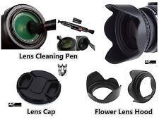 FP87a 55mm Lens Hood + Cap + Lens Pen for Panasonic DMC FZ70 DMC FZ72 Camera