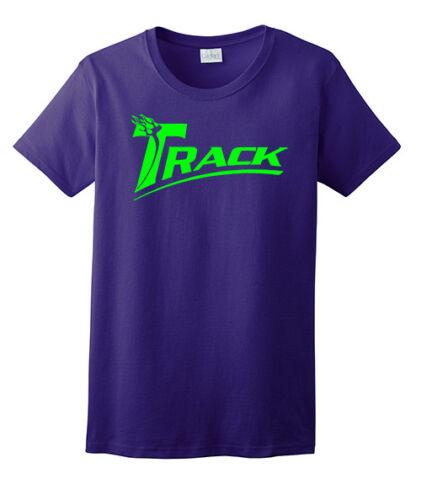 Track Women/'s T-Shirt Bowling Shirt 100/% Ultra Cotton Purple Lime Green