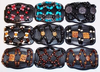 """Magic Combs Angel Wings Hair Clips 4x3.5/"""" African Butterfly Style Quality S84"""