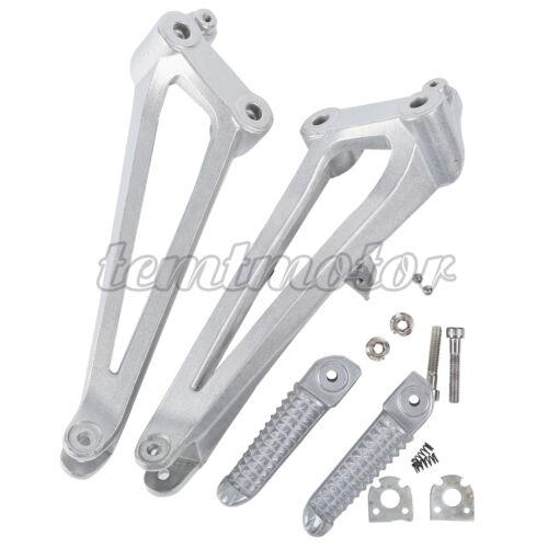 Aluminum Passenger Rear Footpeg Footrest Bracket Set For Yamaha YZF R1 2009-2014