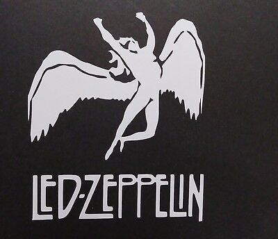 Led Zepplin Vinyl Decal for laptop windows wall car boat
