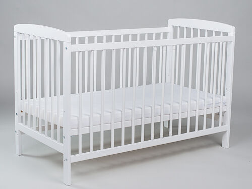 Babybett mit 10-tlg Komplett-Set Bettwäsche Matratze Nestchen Maus Grau Neu