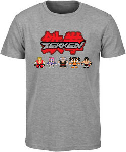 Tekken-Retro-T-Shirt-Straight-Cut-Crew-Neck-Official-Merchandise-M-L-XL-XXL