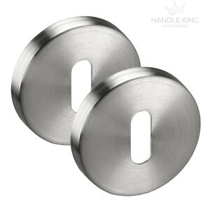 Satin Stainless Steel Escutcheon Key Hole Cover Oval Profile **FREE SHIPPING**