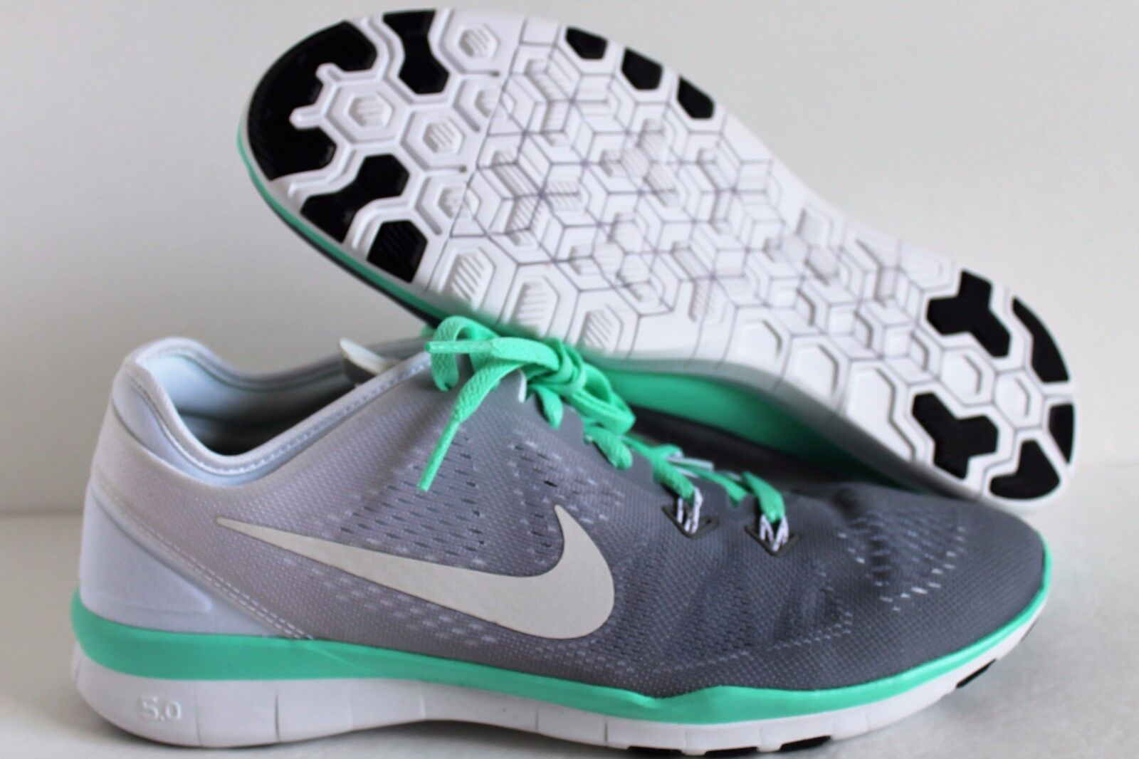 finest selection c61af 3784d Nike Women s Free 5.0 TR FIT iD White-Grey-Green White-Grey-