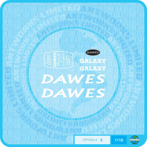 White Set 5 Dawes Galaxy Decals Bicycle Transfers