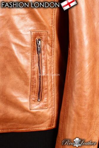 /'Force /'vintage marron homme rétro vrai souple MOUTON NAPPA MODE VESTE CUIR