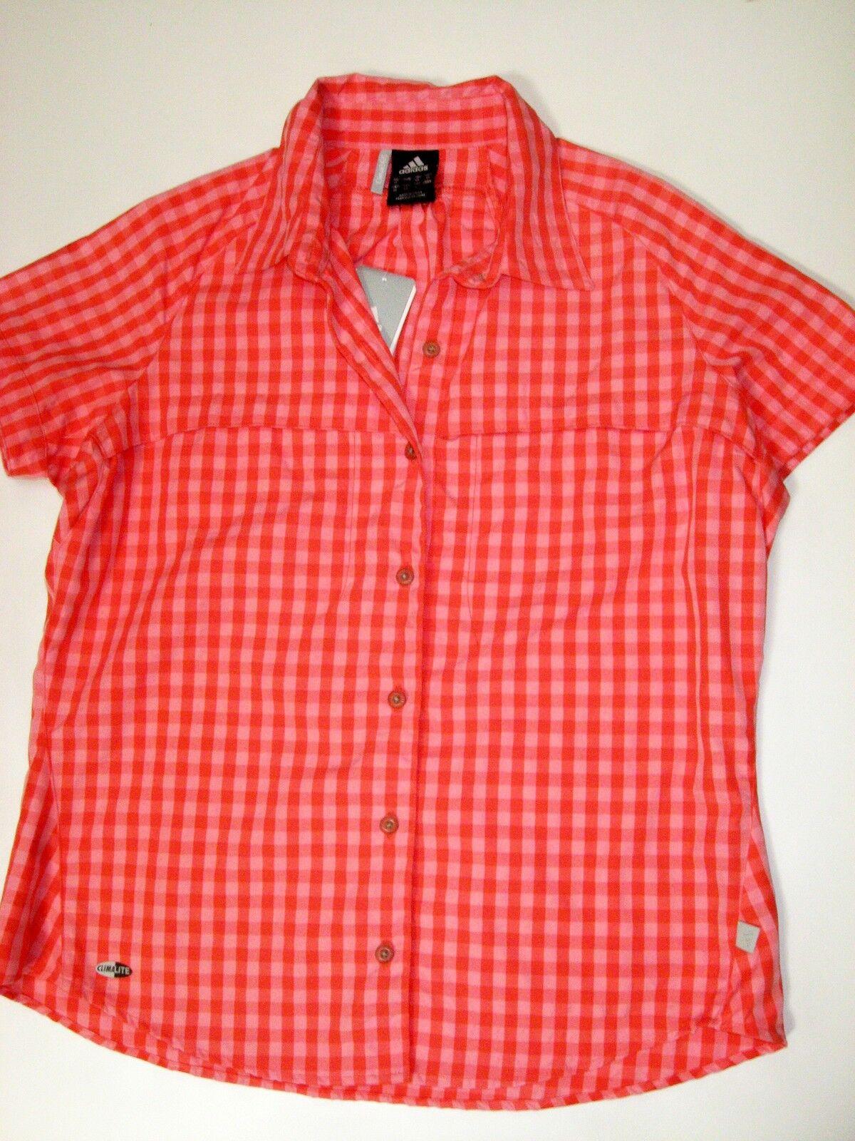 Adidas Plaid blouse 640388 W Kartaya SS Sh Clima365 Hiking Trekking Walking