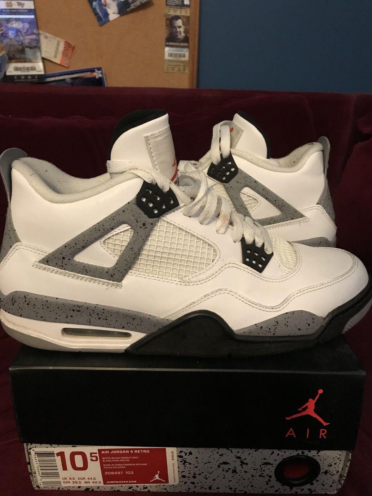 Nike air jordan uomini (2012) 4 cemento bianco scarpe da basket - dimensioni