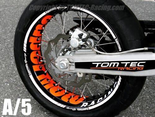 Sticker Wheel Rim Stickers Supermoto KTM Smc 690 LC4 640 660 EXC SMR 450 560