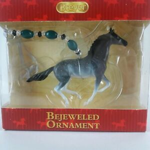 Breyer Christmas Ornament Bejeweled Galloping Blue Roan ...