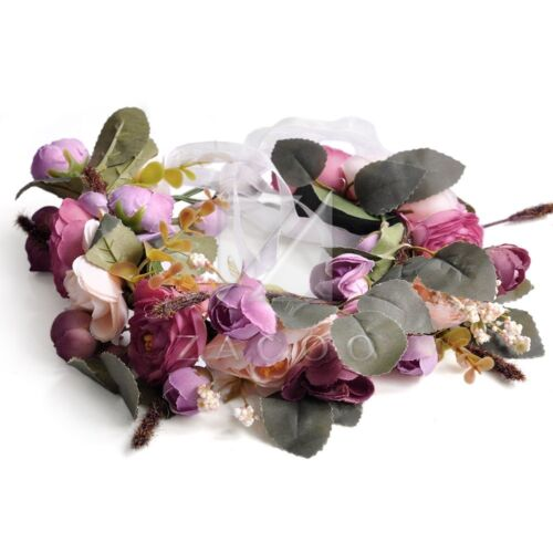 Boho Fleur Hairband Guirlande Couronne Bandeau cheveux Mariage Floral Diadèmes