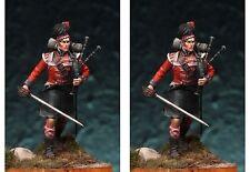 Art Girona Napoleonic Scottish Piper 42nd Black Watch 1809 54mm Unpainted Kit