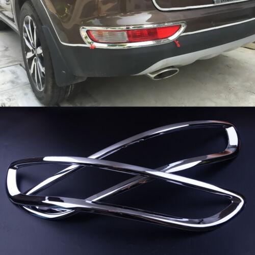 2x Silver Rear Tail Fog Light Cover Trim Fit For Kia Sportage 2017 2018