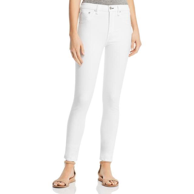 Rag /& Bone Womens Distressed High Rise Skinny Jeans Blue 28