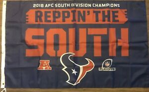 4beda974d HOUSTON TEXANS 2018 AFC SOUTH CHAMPIONS Reppin The South Flag 3   X ...
