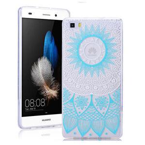 Blue-Mandala-Soft-Transparent-Phone-Back-Case-Cover-For-Various-mobile-phones