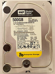 "Western Digital WD WD5002ABYS RE3 7200rpm 500GB 3.5/"" SATA Hard Drive HD HDD"
