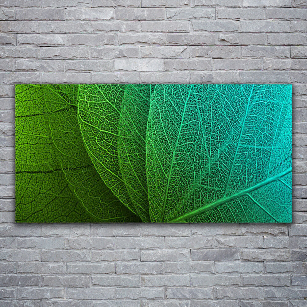 Impression sur verre Wall Art 120x60 Photo Image Abstrait Feuilles Floral