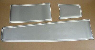 "Ferrari 599 GTB /""GTO style/"" stripes decals stickers set kit lines adhesivi black"