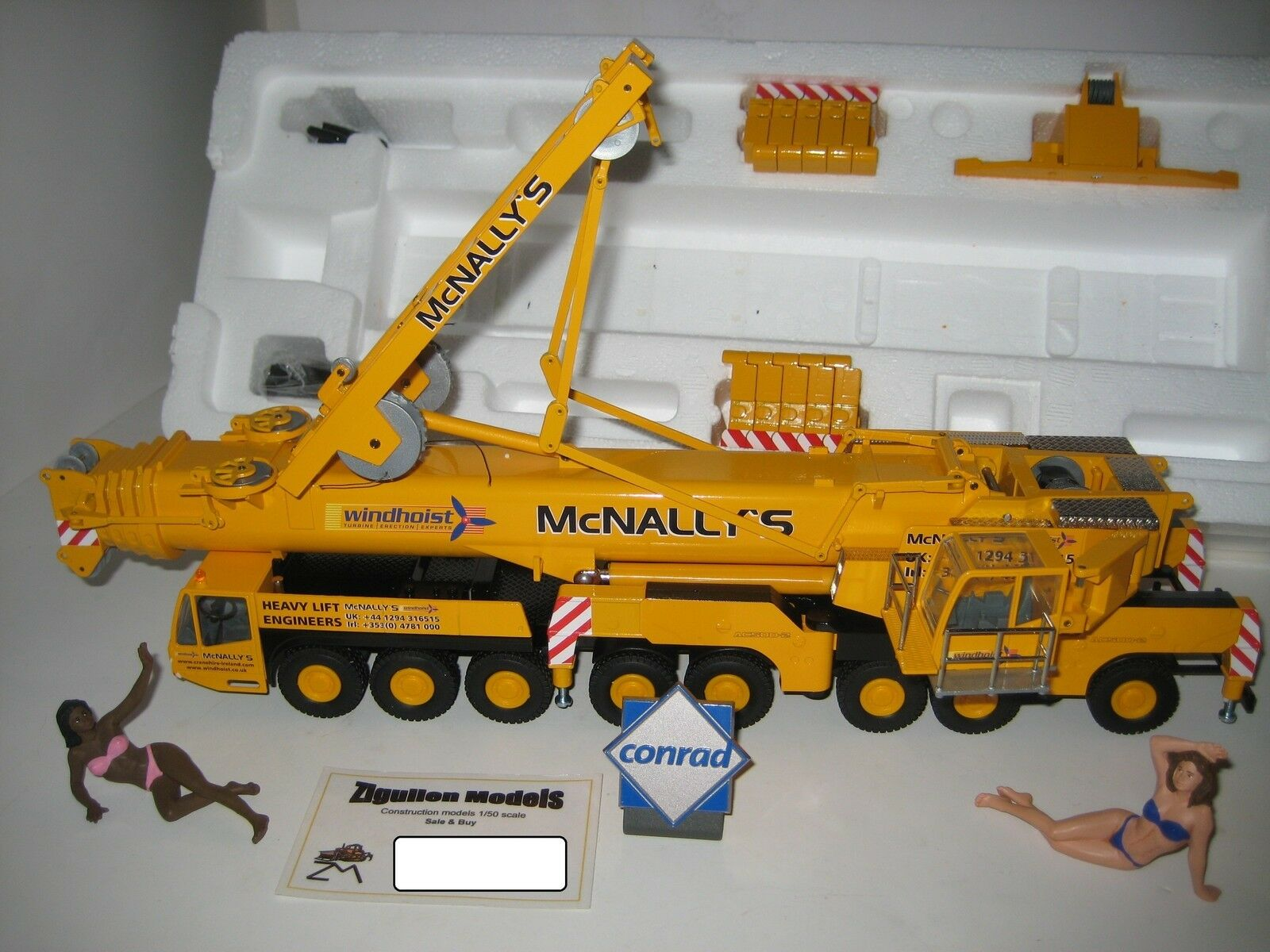Terex Demag AC 500-2 Autokran McNALLY'S  2098.9 CONRAD 1 50 NEUF dans sa boîte