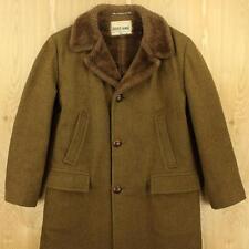 vtg 50's 60's ZERO KING usa made wool sherpa lined heavy coat size 40 / MEDIUM