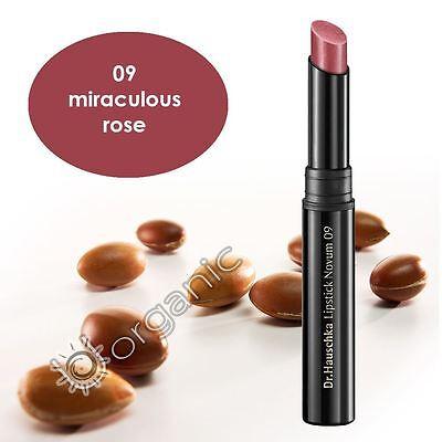 Dr Hauschka Genuine Organic Lipstick Novum 09 Miraculous Rose 2g NEW Long Date