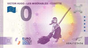 """BILLET 0  EURO VICTOR HUGO """"Les misérables"""" COSETTE ANNIVERSARY  2021 N° DIVERS"""