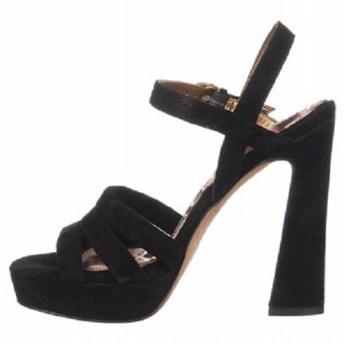 Sam Edelman Taryn  Black Suede Platforms Platforms Platforms Heels shoes 10 New 31b36d